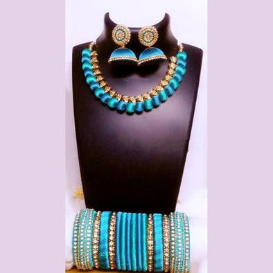 Silk Thread Necklace Set 5