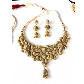Terracotta Gold Choker Set