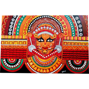 Framed Canvas painting of Theyyam