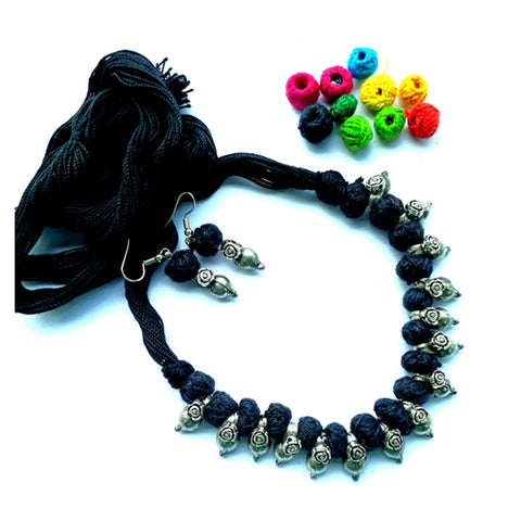 Black Kajal Lata Necklace