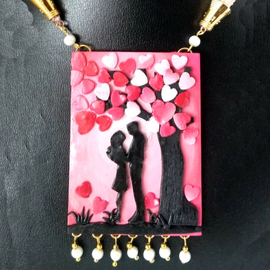 Polymer Clay Valentine Statement Necklace