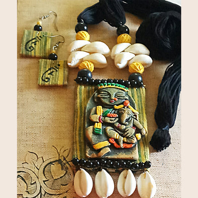 Ganesh Durga Necklace Set