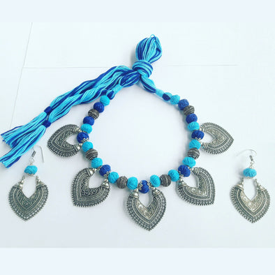 Kanbali Thread Ethnic Necklace