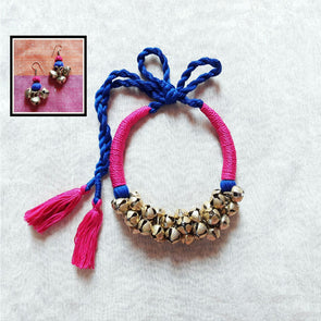 Blue and Pink Thread Ghungroo