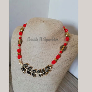 Leafy Orange Necklace