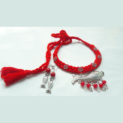 Fish Red Thread Necklace