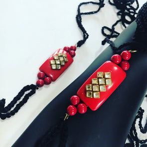 Black and Red Barefoot Accessory