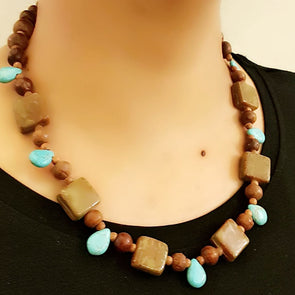 The Bead Story - Brown Necklace