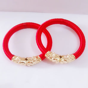 Silk Thread Elephant Bangles