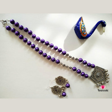 Purple Necklace Set