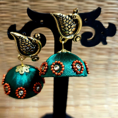 Silk Thread Jhumkas 5
