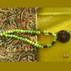 Lime green Lamp Work Neckpiece