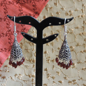 Antique Silver Jhumka