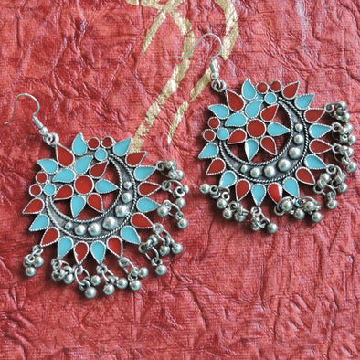Fancy Enamel Earrings