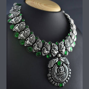 Mayur Stone Temple Necklace Set