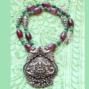Oxidized Temple Necklace