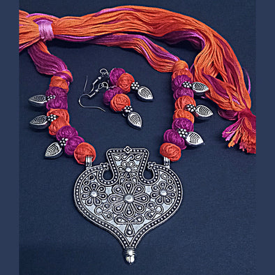 Orange Magenta Magic Necklace