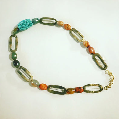 Shaded Orange Necklace