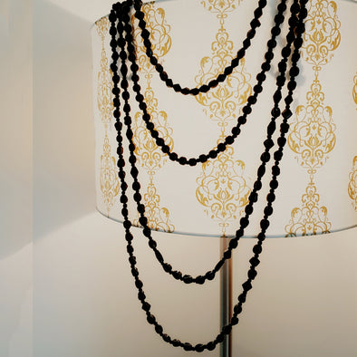The Bead Story - Black Beads Multi-Strand Necklace