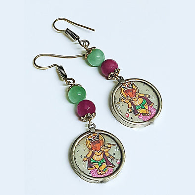 Dancing Ganesha Earrings