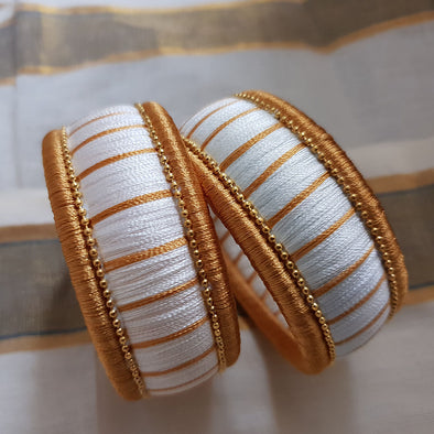 Chunky Silk Thread Bangles