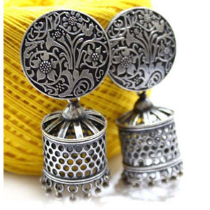 Cylinder Silver Replica Jhumka