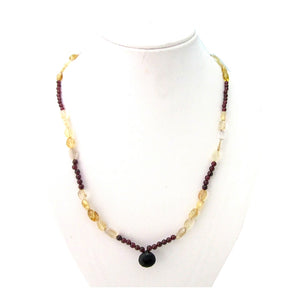 Garnet, Citrine Stone Necklace