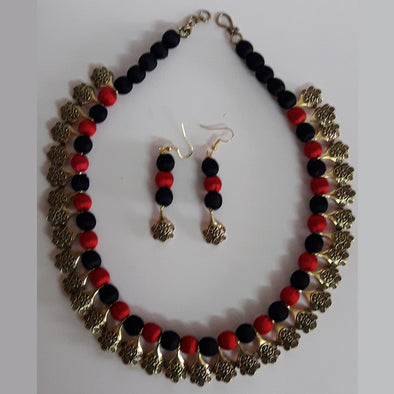 Silk Threaded Necklace Set