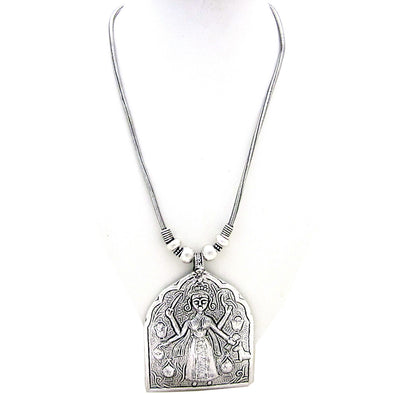 Antique German Silver Temple Necklace