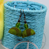 Refreshing Green Ikat Fabric Jhumka Earring