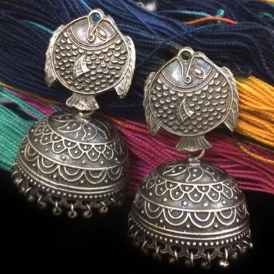 Fish Silver Replica Jhumka