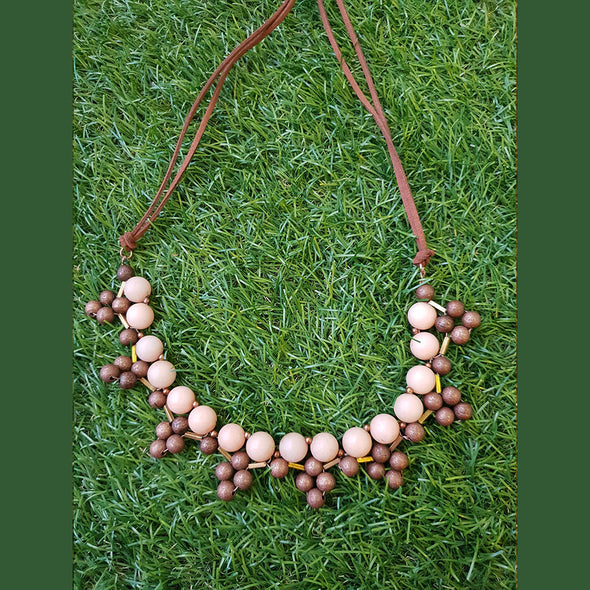 Stone, Copper Beads Neckpiece