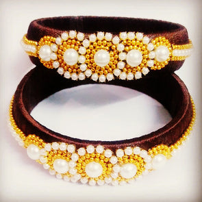 Brown Silk Thread Bangles