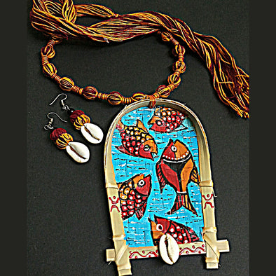 Patachitra Art Necklace