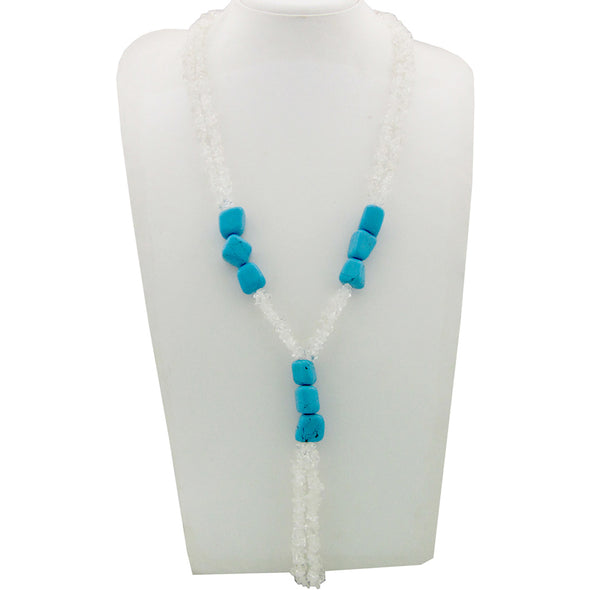 Crystal, Turquoise Natural Stone Necklace