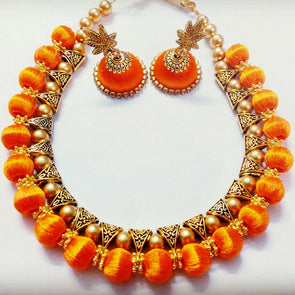 Silk Thread Bail Necklace Set 2