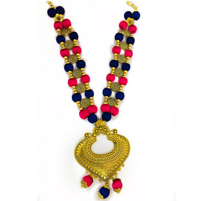 Silk Thread Necklace Set 17