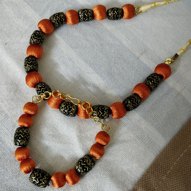 Orange Necklace and Bracelet
