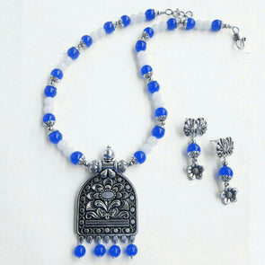 Ethnic Glass Beads Necklace