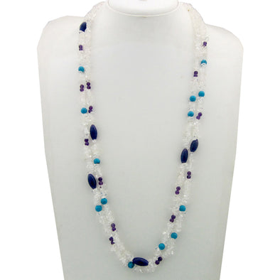 Crystal, Amethyst, Turquoise, Jade Natural Stone Necklace