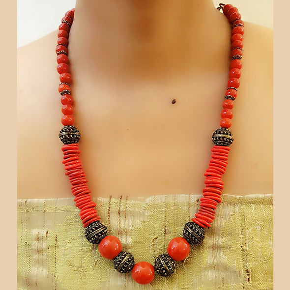 Red Single Layer Necklace