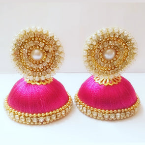 Silk Thread Jhumkas 6