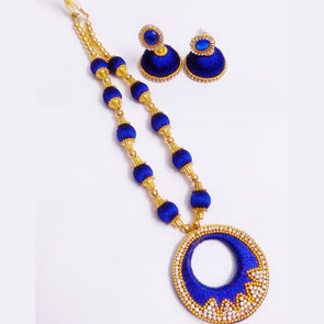 Silk Thread Necklace Set 9
