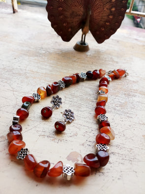 Brown Agate Nugget Neckpiece