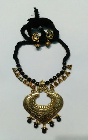 Golden Heart shaped Neckpiece