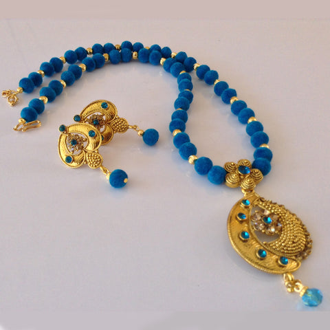 Velvette Bead Traditional Necklace