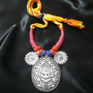 Tribal Drop Ganesh Ji Pendant