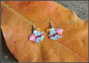 Dumbo, the flying Elephant Earrings 02