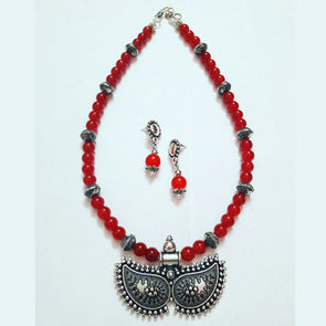 Sandra Locket Statement Necklace