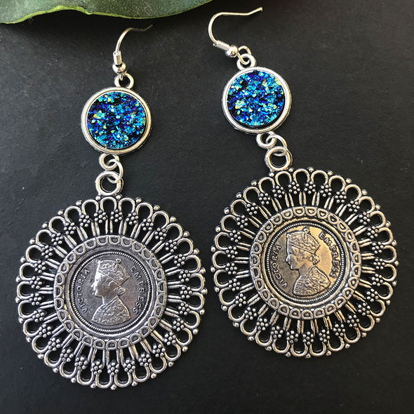 Druzy Empress Earrings